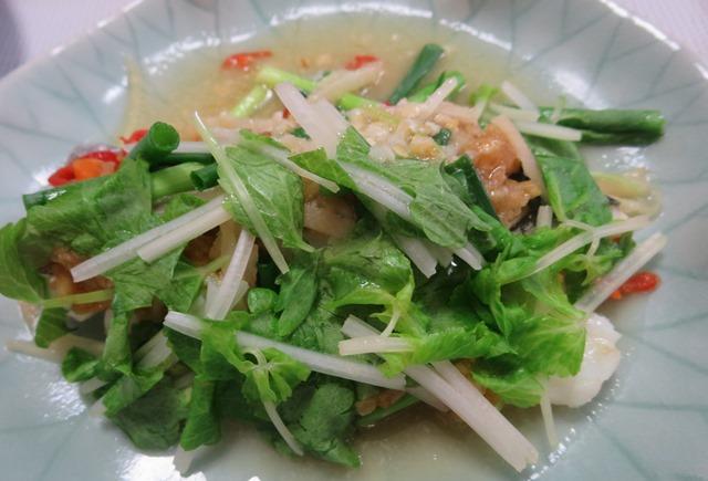 プラー・ヌン・タオチオ(魚のタオチオ蒸し)