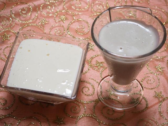 豆腐のデザート2種