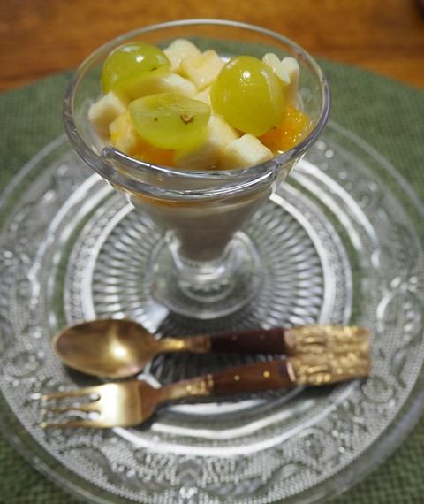 豆腐とバナナのココナツミルクムース