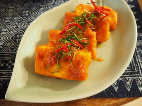 豆腐のレッドカレーソース