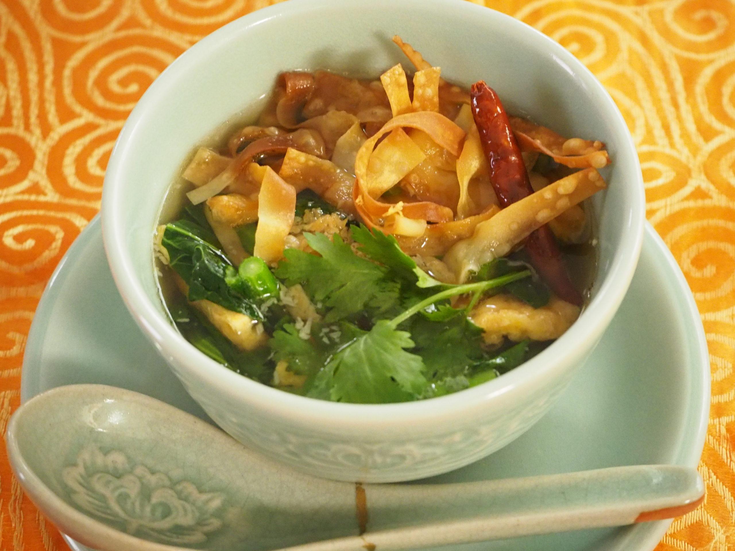 青菜と卵焼きのスープ