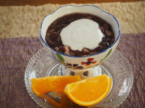 黒米のデザート